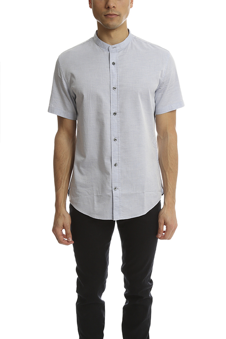 Vince Melrose Collar Shirt - Heather Colony Blue