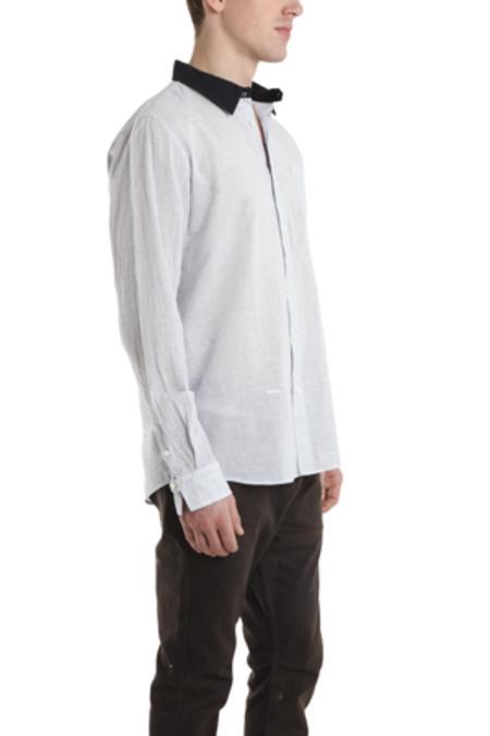Robert Geller Contrast Collar Dress Shirt - Light Blue