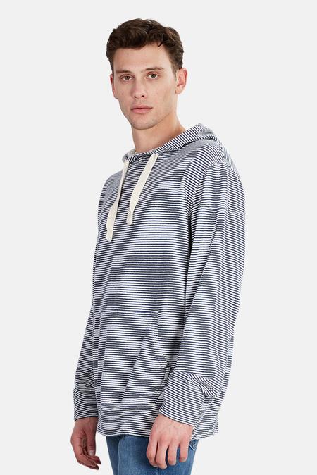 Jungmaven Maui Hoodie Sweater - Navy Stripe