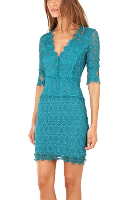 Nightcap Florence Lace Dress - Peacock