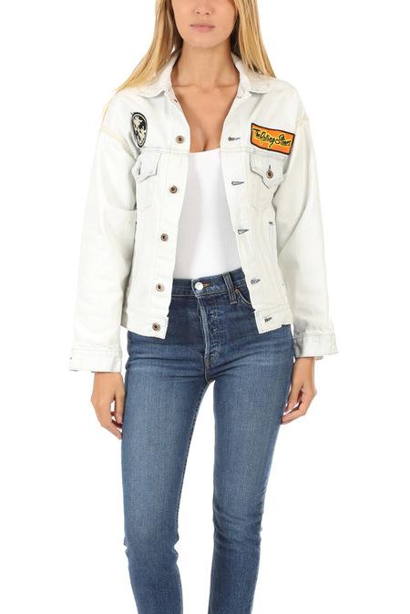 MadeWorn Rock Stones Chenille Denim Jacket - White