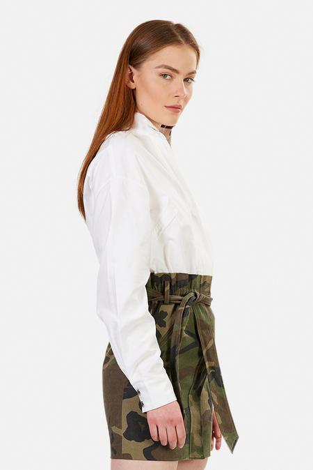 RtA Niccola Combo Dress - White