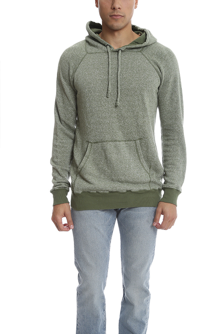 V::room Melange Fleece Hoody Sweater - Olive
