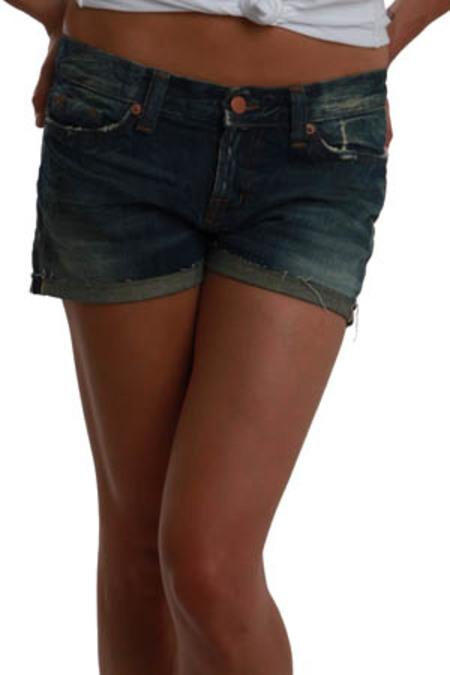 J Brand Roll Up Short Raw Edge Shorts - Indigo