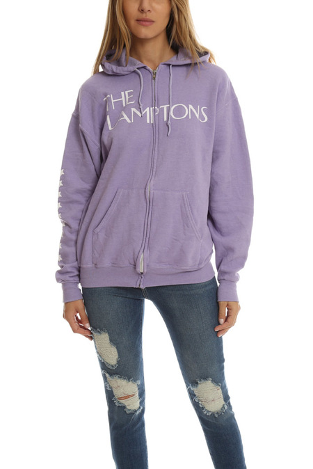 Blue&Cream Lamptons Hoodie Sweater - Purple With Skull