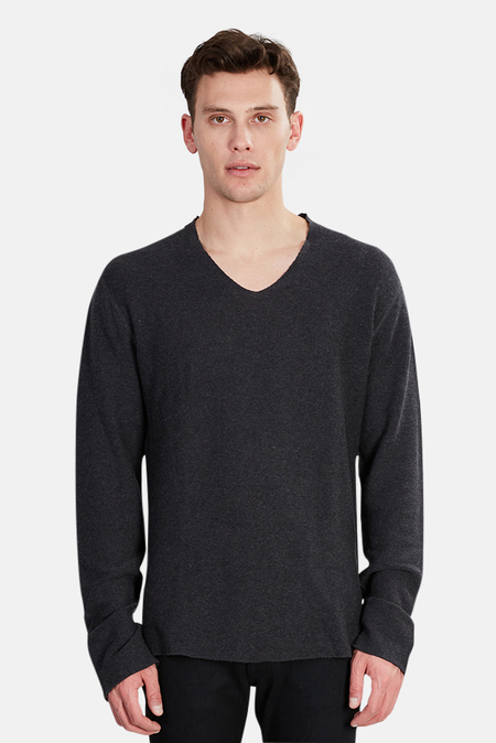 Hannes Roether Copla V Neck Sweater - Charcoal Grey