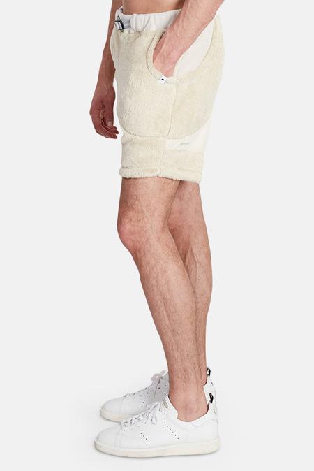 and Wander High Loft Fleece Shorts - off white
