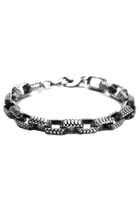 Bernard James The Melano Bracelet - Silver/Black
