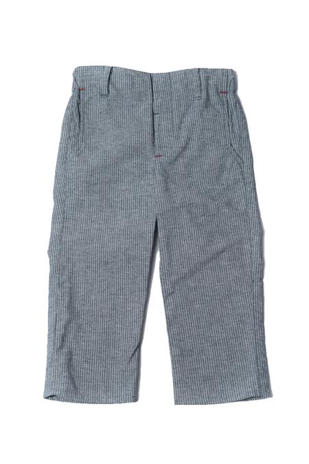 kids Hopper Hunter Slim Trouser - Pinstripe Chambray