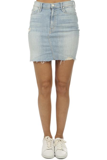 Mother Denim The Sacred Mini Fray Skirt - Written In The Sand