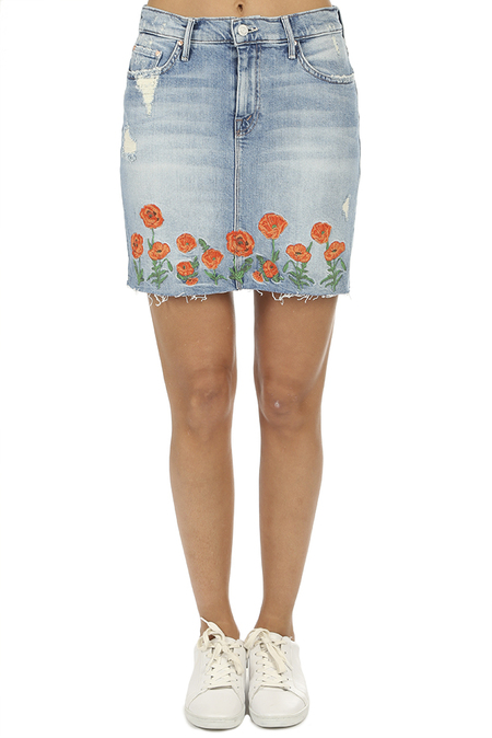 Mother Denim Straight A Mini Fray Skirt - Quite Contrary