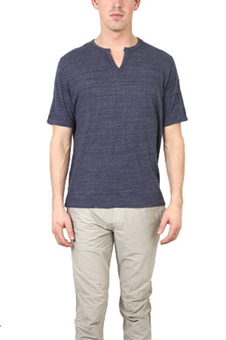 V::ROOM Melange Slit T-Shirt - Navy