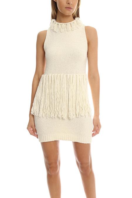 3.1 Phillip Lim Fringe Tank Dress - Ivory
