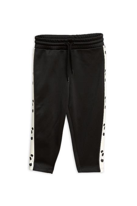 Kids Mini Rodini Panda Track Pants - Black