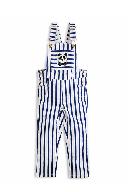 Kids Mini Rodini Stripe Dungarees Pants - Blue