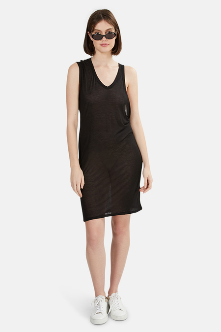 T by Alexander Wang one Shoulder Tank Dress - Black