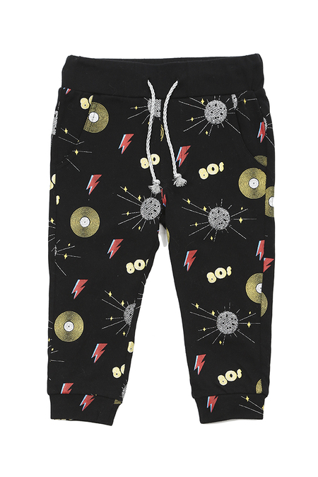 Kids Oaks of Acorn Disco Party Sweatpants - Black/Multi