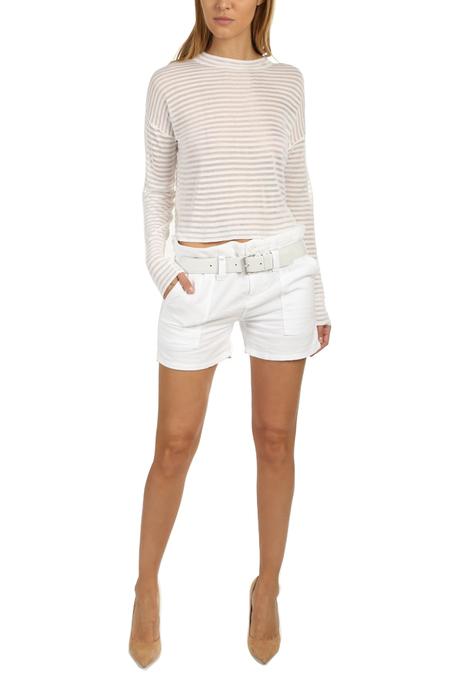 RtA Saint Belted Short - Optic White