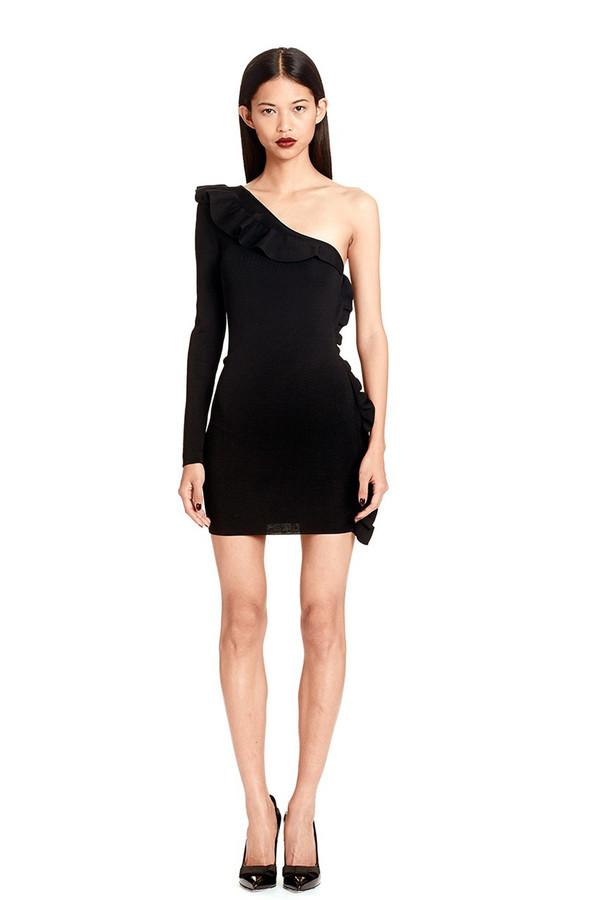 Franca Ruffle Dress | black