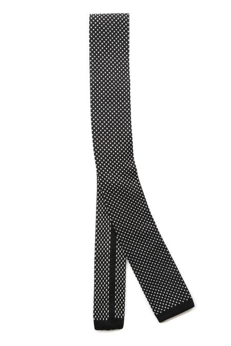 Lanvin Square End Tie - Black/White