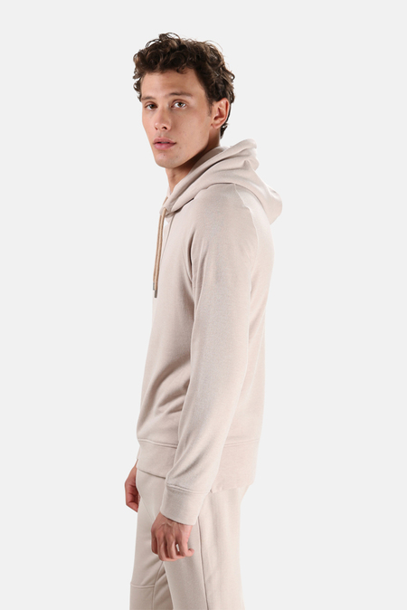 Wheelers.V Mason Pullover Hoodie Sweater - Oatmeal