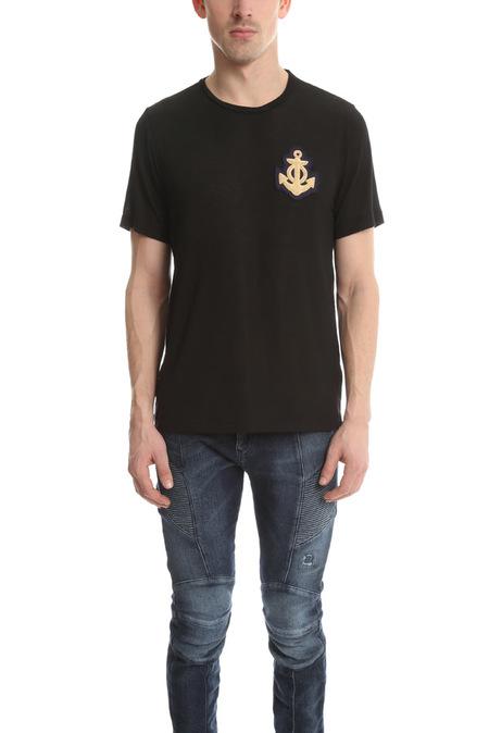Pierre Balmain Anchor Classic T-Shirt - Black