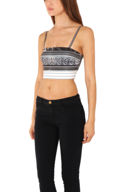 Clover Canyon Etched Marble Crop Top - Black