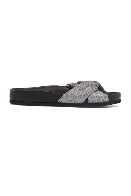 IRO Kaely Slide Sandals Shoes - Silver