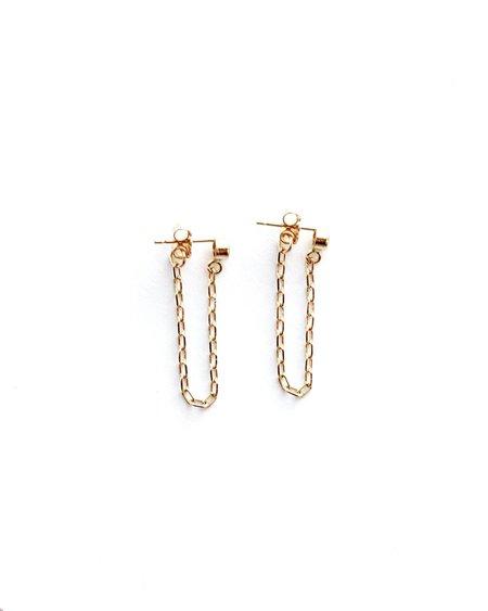 Jennifer Tuton Cz Drop Chain Earrings