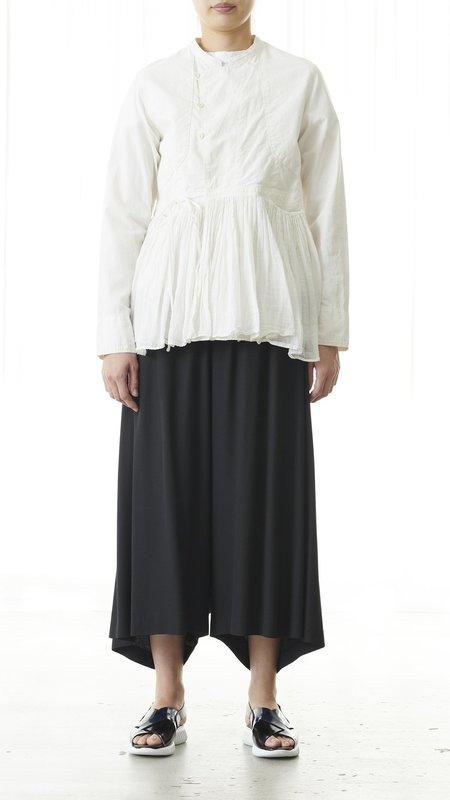Pas de Calais Peplum Fringe Jacket - White