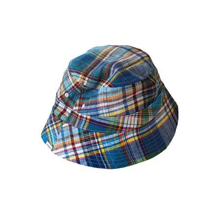 Freemans Sporting Club Reversible Bucket Cap - Madras/Green