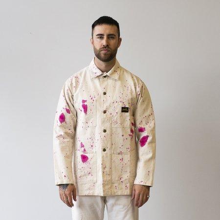 Stan Ray Shop Jacket - Natural/Purple Paint