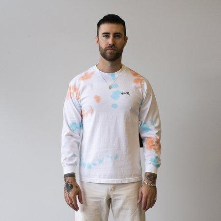 Stan Ray long sleeve t-shirt - Coral/Parrott Tie Dye