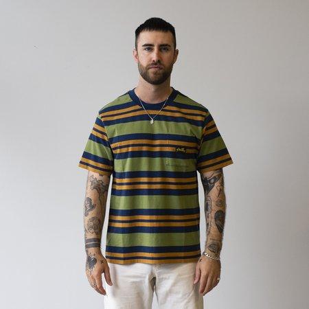 Stan Ray Yarn Dye Stripe Thick T-Shirt - Navy/Border Stripe
