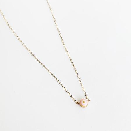 Bijoux B Simple Evil eye necklace - 14K Gold