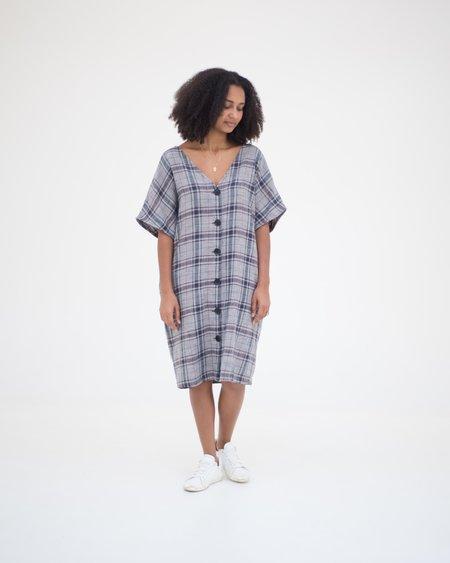 Esby Maci Dress - Midnight Vintage Plaid