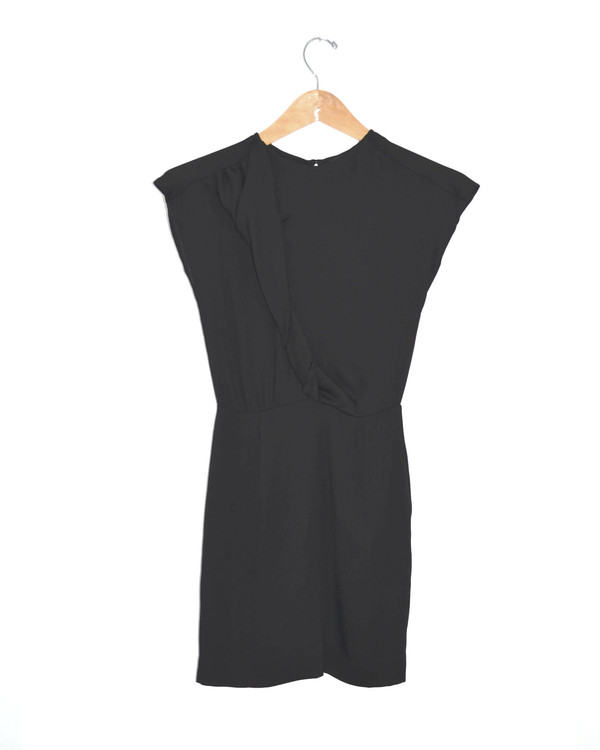 DESIGNERS REMIX - Twist Front Black Dress