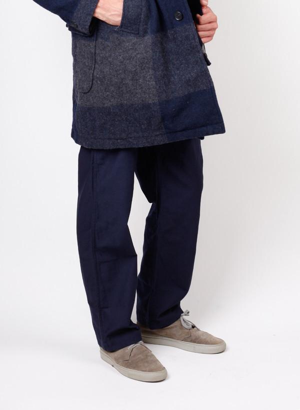 Men's Engineered Garments Fatigue Pant Dk. Navy Cotton Reversed Sateen