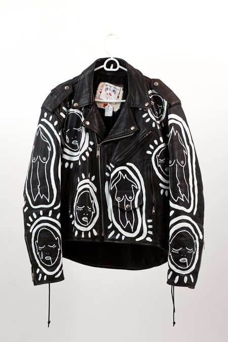 Patrick Church All Over You Hand Painted Vintage Leather Jacket