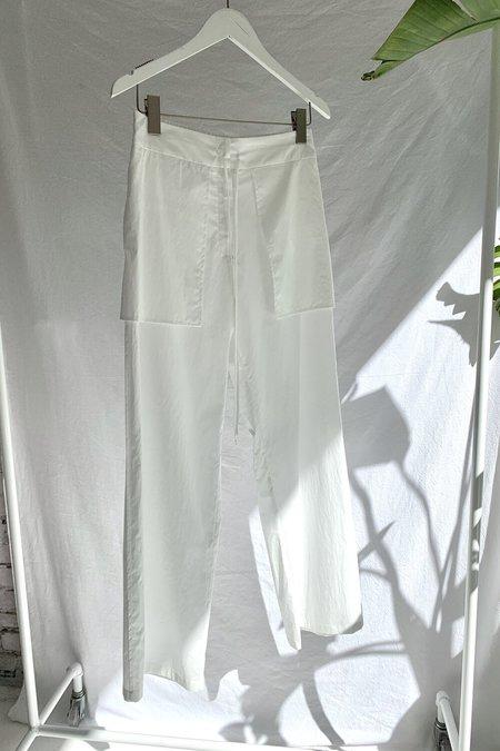 AMOMENTO REVERSE PANTS - WHITE