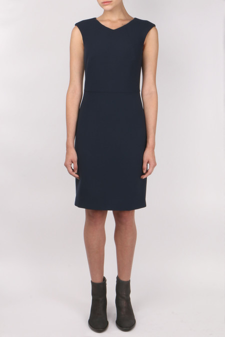Peserico High V Neck Sleeveless Dress