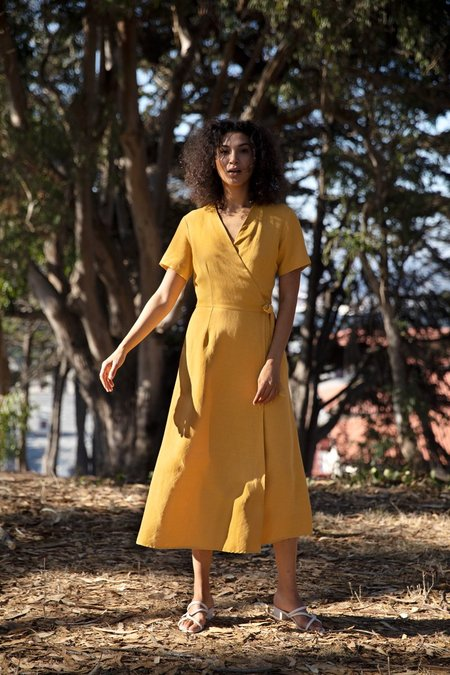 North Of West Avery Wrap Dress - Golden
