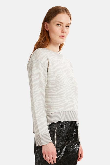 RtA Emma Sweater - Grey Zebra