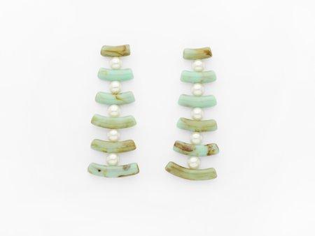 Valet Studio Clotilde Earrings - Mint