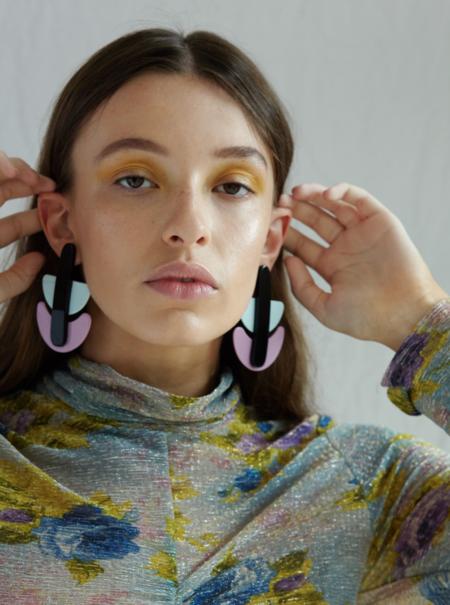 Valet Studio Mathilde Earrings - Purple