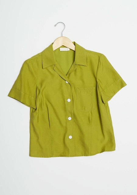 Lorod Short Sleeve Bowling Shirt - Cadium Green