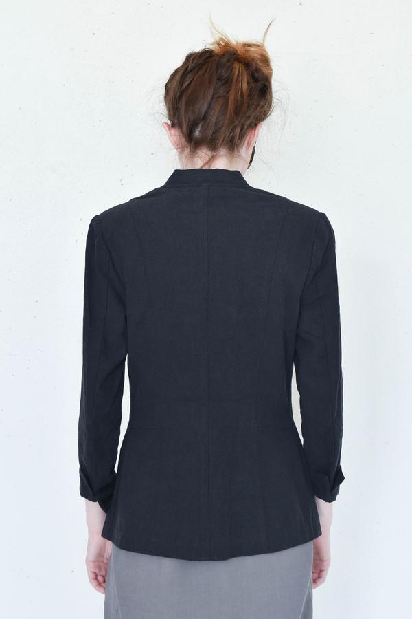 7115 By Szeki Deconstructed Blazer in Black