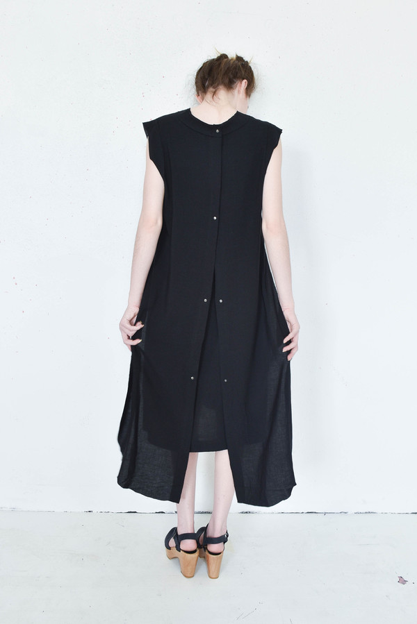 7115 By Szeki Frayed Edge Dress in Black