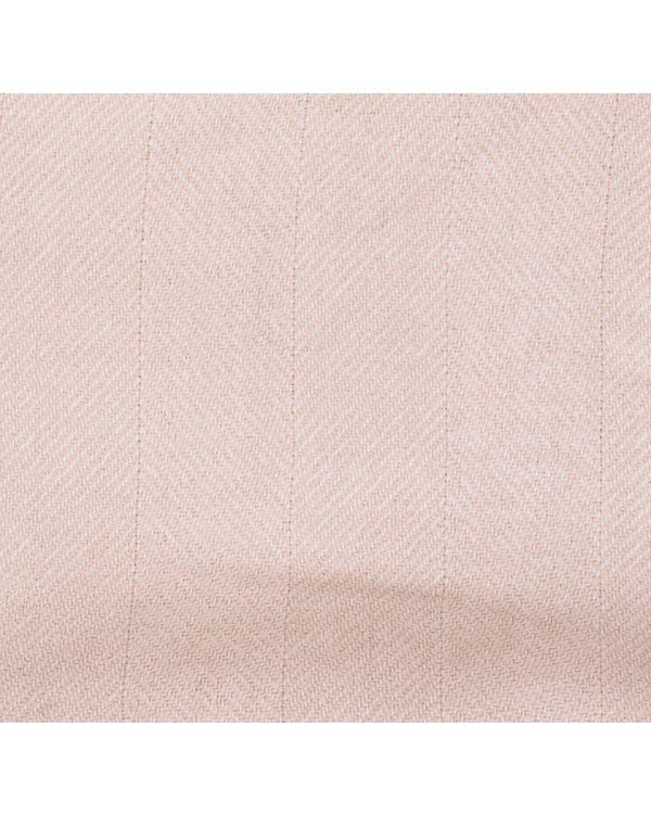 A Peace Treaty Handwoven Rena Scarf in Blush with Leather Fringe