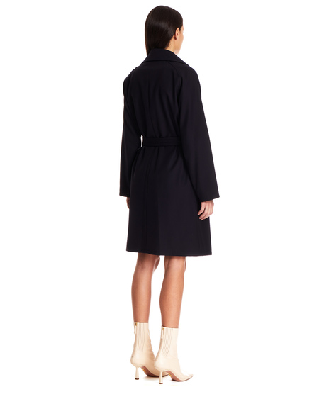 A.P.C.  Wool Trench Coat - Navy Blue